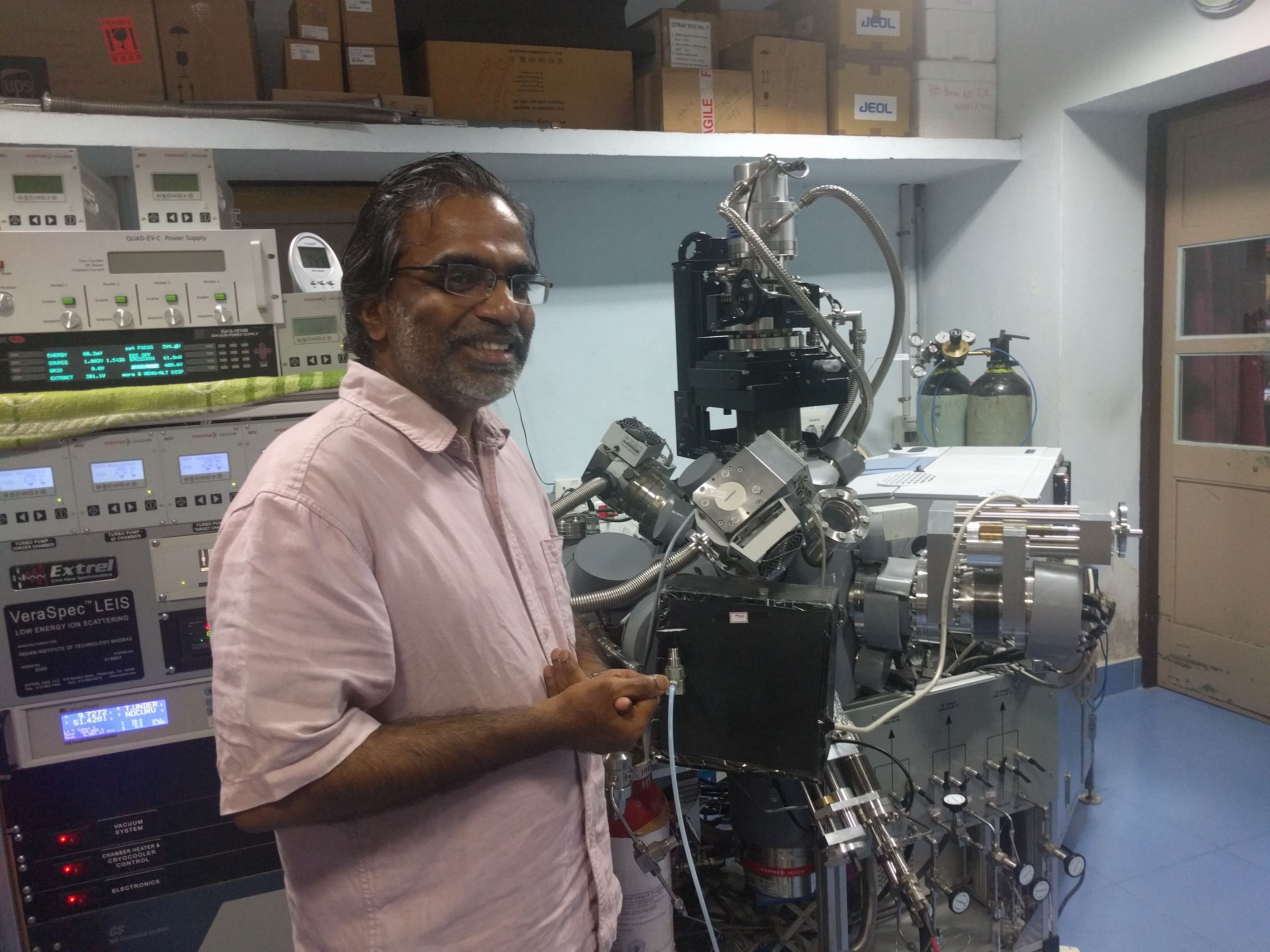 Continuing his tradition of building instruments, T Pradeep built this spectrometer in his lab at a cost of $1 million, only one of such in the world, to study the first few molecules of ice.